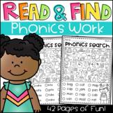 Read and Find Phonics Worksheets - CVC, Long Vowels, Digraphs, Blends & More!