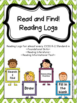 Read and Find Reading Logs - K-2 Common Core Reading Logs