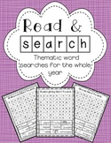 Read and Find: Thematic Word Searches For The Whole Year!