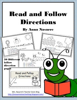 Read and Follow Direction Booklet