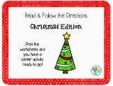 Read and Follow Directions Christmas Edition