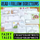 Read Color Reading Comprehension Fairy Tales