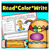 Read and Follow Directions - Read, Color, Write