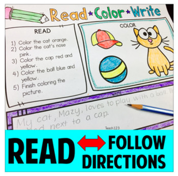 Read and Follow Directions - Read, Color, Write Vol 1 and 2