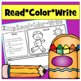 Read Color Write Reading Comprehension