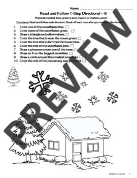 Read and Follow Directions - Winter Theme!