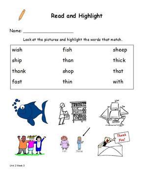 Read and Highlight 1st Grade Treasures Unit 2
