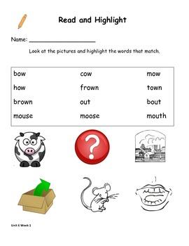 Read and Highlight 1st Grade Treasures Unit 6