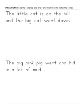 Read and Illustrate with CVC and Sight Words Common Core Aligned