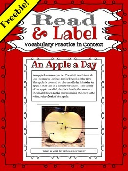 Read and Label: An Apple a Day