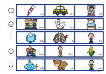 image relating to 1st Grade Reading Games Printable named Read through and Video game Bingo Sport with CVC Terms Initially Quality Phonics Studying Recreation
