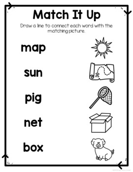 Read and Match CVC Words