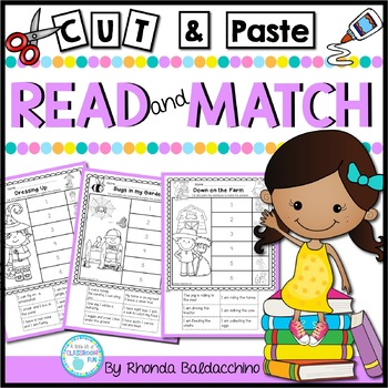 Read and Match {Cut & Paste NO PREP Printables}