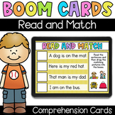 Read and Match - Digital Task Cards - Boom Cards