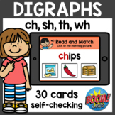 Read and Match Digraphs Boom Cards Distance Learning