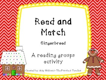 Read and Match- Gingerbread and Peppermint Candy