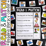Read and Match Literacy Center