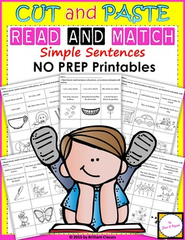Read and Match (NO PREP Printables)