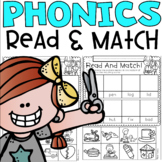Read and Match Phonics including CVC, Blends, Digraphs, Diphthongs and more!