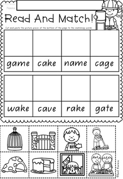 Read and Match Phonics in QLD Beginners Font ACARA Aligned