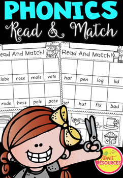 Read and Match Phonics in South Australian Font ACARA Aligned