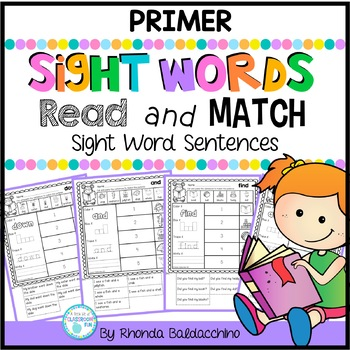 Read and Match Sight Words Sentences PRIMER