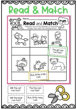 Read and Match Sight Word Sentences (The Bundle)