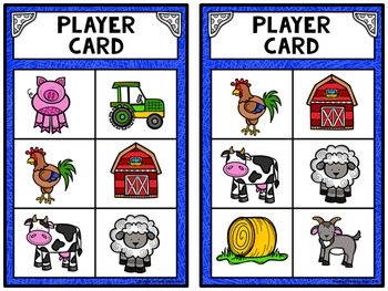 Read and Match Sight Words Editable Game Board - Farm Friends