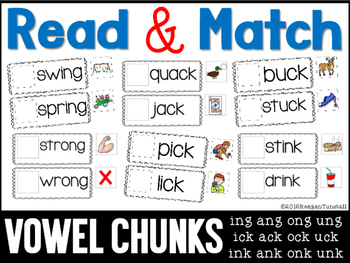 Read and Match Vowel Chunks