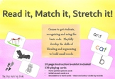 Read and Match a-z Decodable Words Card Game