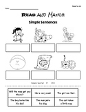Read and Match-- practicing CVC words