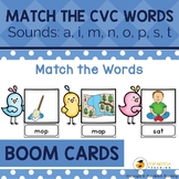 Read and Match the CVC Words Boom Cards Set 1 | Distance Learning