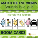 Read and Match the CVC Words Boom Cards Set 2 | Distance Learning