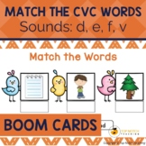 Read and Match the CVC Words Boom Cards Set 3 | Distance Learning