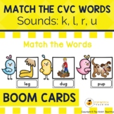 Read and Match the CVC Words Boom Cards Set 4 | Distance Learning