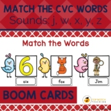Read and Match the CVC Words Boom Cards Set 5 | Distance Learning