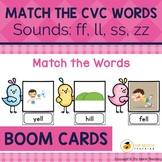 Read and Match the CVC Words Boom Cards Set 6 | Distance Learning