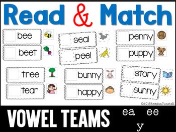 Read and Match Vowel Teams ee ea y