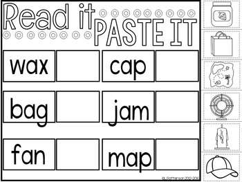 Read and Paste {CVC Words}