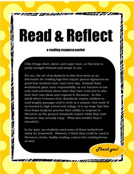 Read and Reflect Reading Homework Packet
