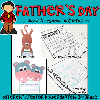Father's Day: Reading Comprehension, Writing and Craftivities