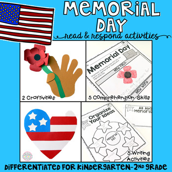 and craftivities memorial day reading comprehension writing and craftivities
