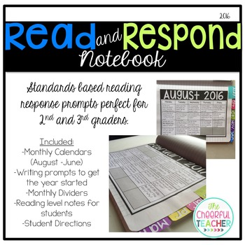 Read and Respond Notebook - Standards Based (Editable)