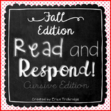 Read and Respond {Fall Cursive Edition}