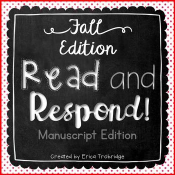 Read and Respond {October Manuscript Edition}