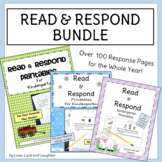 Read and Respond Printables Whole Year Bundle