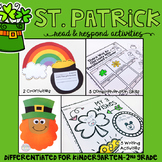 St. Patrick's Day: Reading Comprehension, Writing and Craf