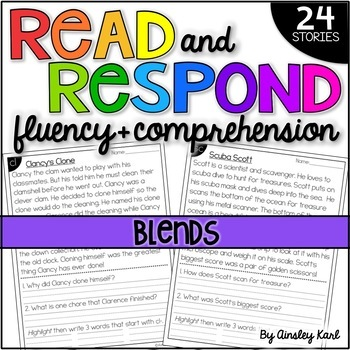 Phonics Reading Passages - Fluency and Comprehension - Blends Level 2