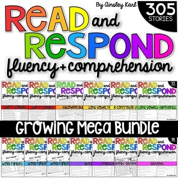 GROWING BUNDLE Phonics Reading Passages for Fluency & Comprehension