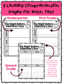 Valentine's Day: Reading Comprehension, Writing and Craftivities